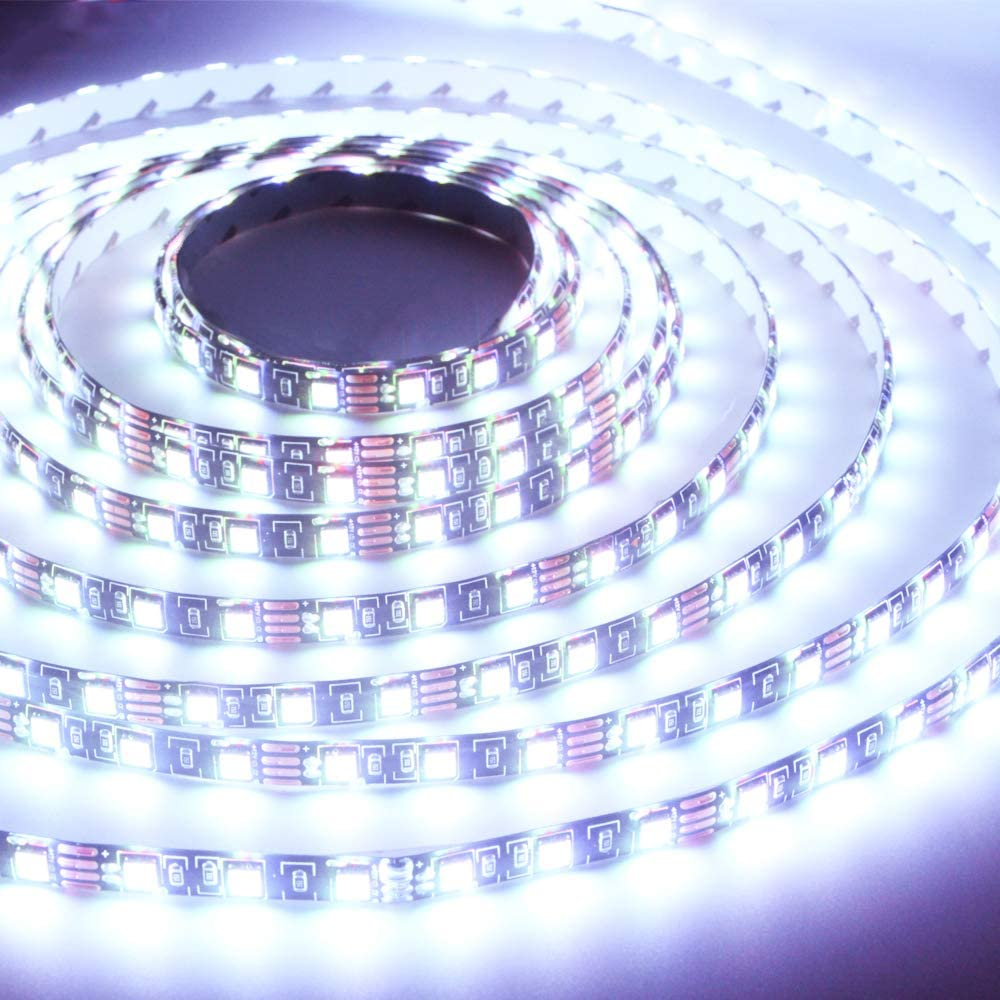 Grandview 12V SMD 5050 16.4 Ft (5M) 300leds Led Strip Lights Waterproof Led Rope Light White Flexible Tape Light for Kitchen, Closet, Mirror, Ceiling, Indoor and Outdoor-No Power Supply