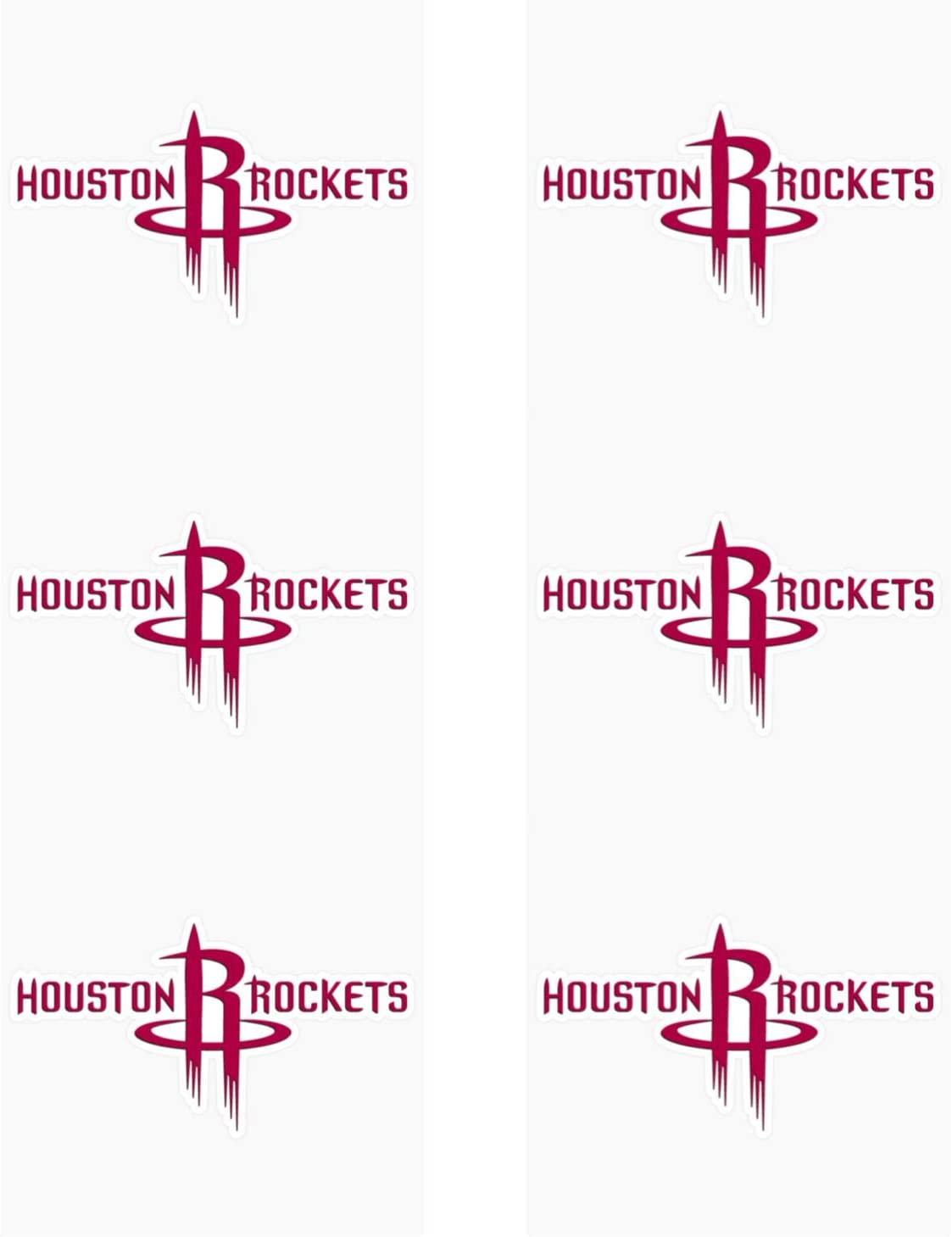 Houston Rockets Stickers Set of 6 Plus 6 Mini Basketball Stickers Team Logo Clutch City