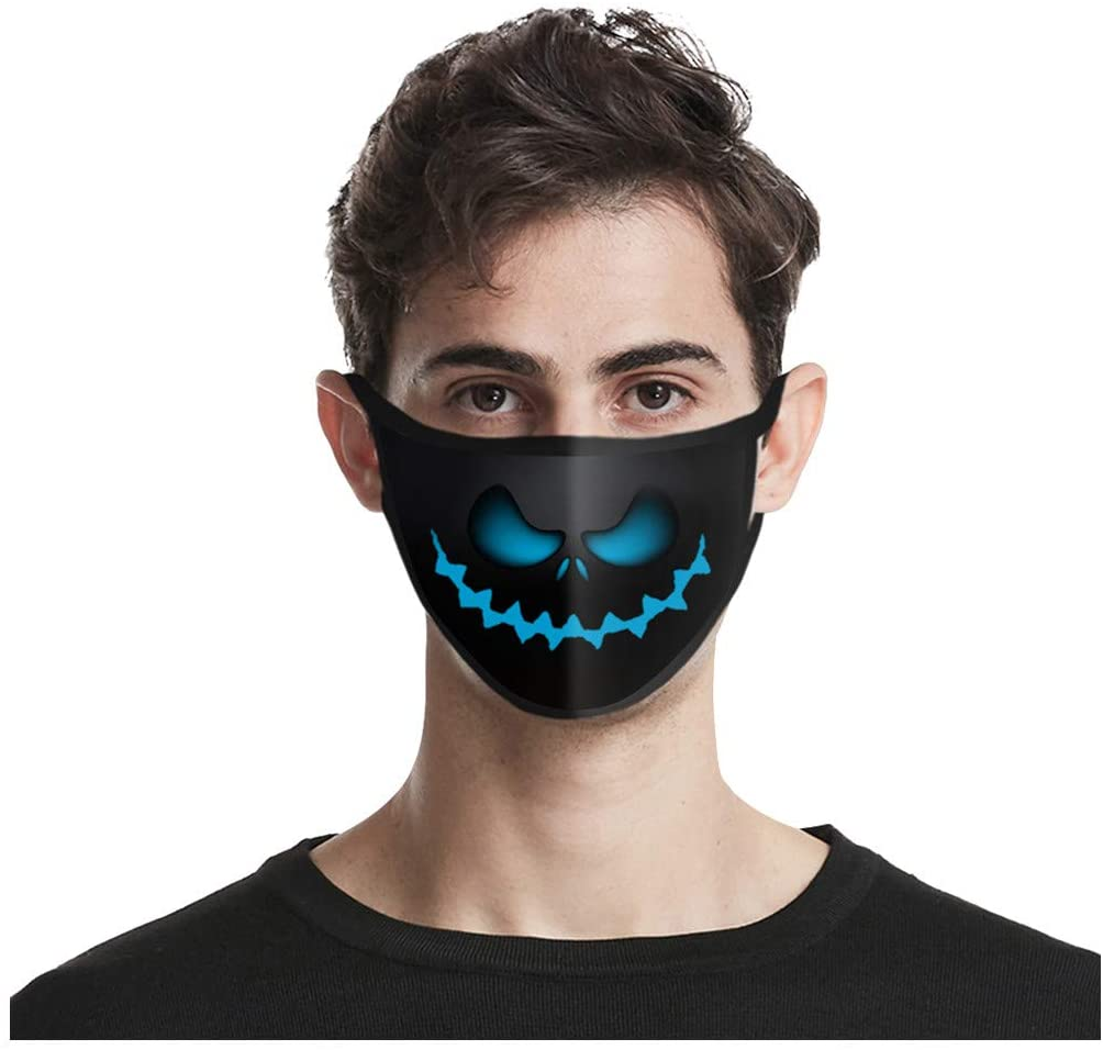 Halloween 4PC Face Mask Mouth Cover for Women,Face Cover Reusable Washable,Cover Cloth Washable,Face Masks Washable Cloth for Men Kids Reusable Dustproof PM2.5