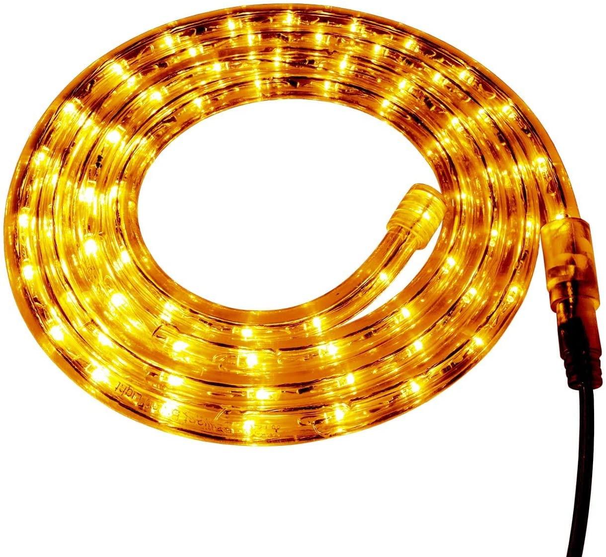 Yellow LED Rope Light - 120 Volt - Custom Cut - 85.28 Feet