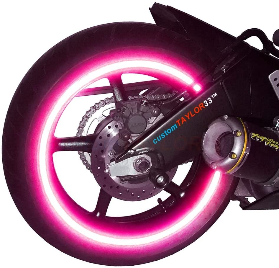 customTAYLOR33 New Special Edition Hot Pink High Intensity Grade Reflective Copyrighted Safety Rim Tapes, 17