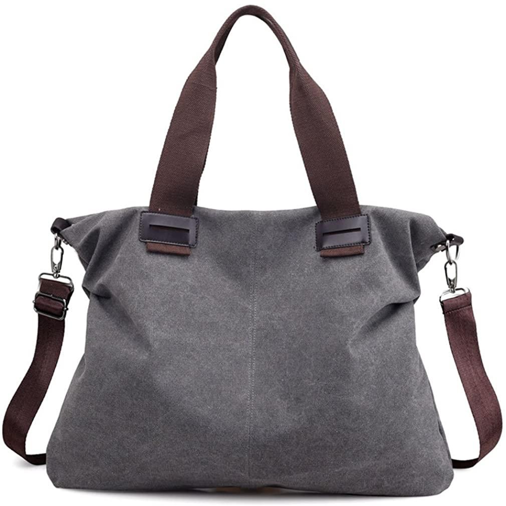 Womens Canvas Vintage Shoulder Bag Hobo Daily Purse Large Tote Top Handle Shopper Handbag