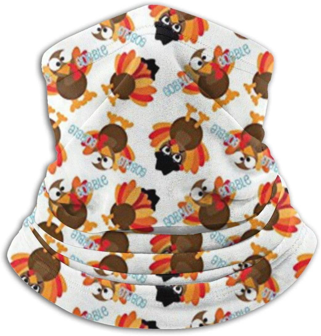 antkondnm Thanksgiving Funny Turkey Face Mask Headband Bandana Neck Warmer Gaiter Head Wrap Scarf Headwear Balaclava