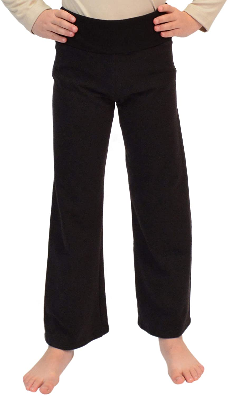 Stretch is Comfort Girl's Teamwear Cotton Foldover Yoga Pants