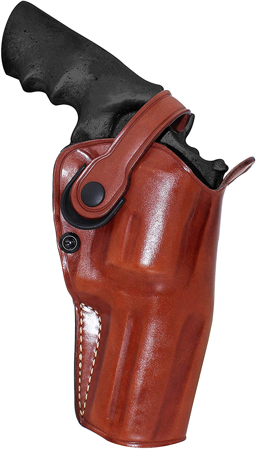 Premium Leather Three Slots Belt Holster with Retention Strap Fits Smith Wesson Model 500 Magnum X-Frame 4