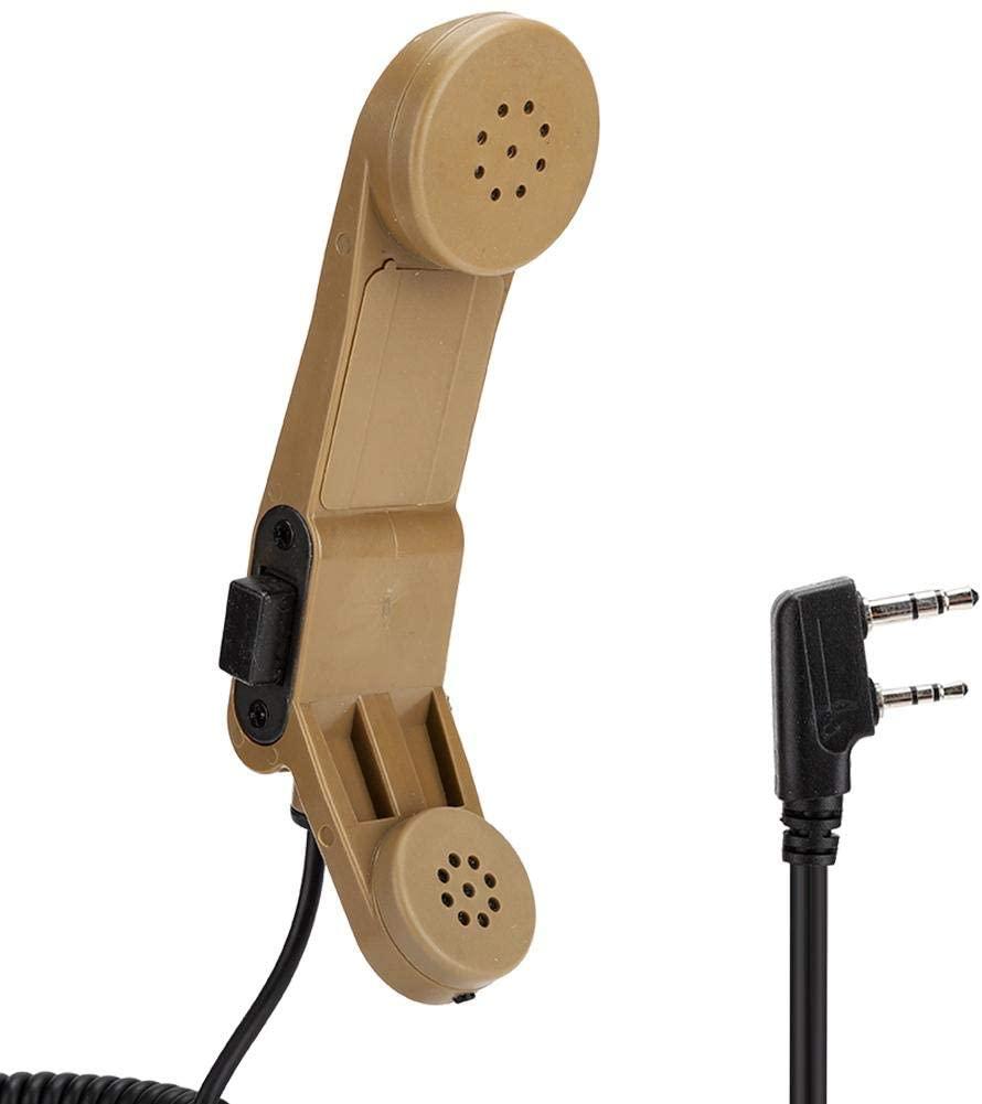 Mugast Handheld Speaker for Walkie Talkie, Handheld Speaker Radio Microphone Compatible for Kenwood/BAOFENG