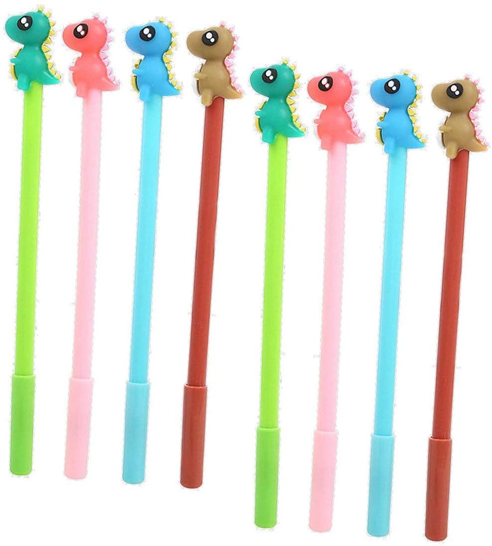 WIN-MARKET Gel Pens Set Fashion Cute Funny Cartoon Dinosaur Dragon Animals Gel Pens Office School Pen Stationery (8PCS)