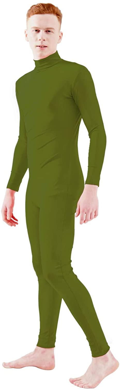 Ensnovo Adult Spandex Turtleneck Long Sleeve One Piece Unitard Bodysuit Dancewear