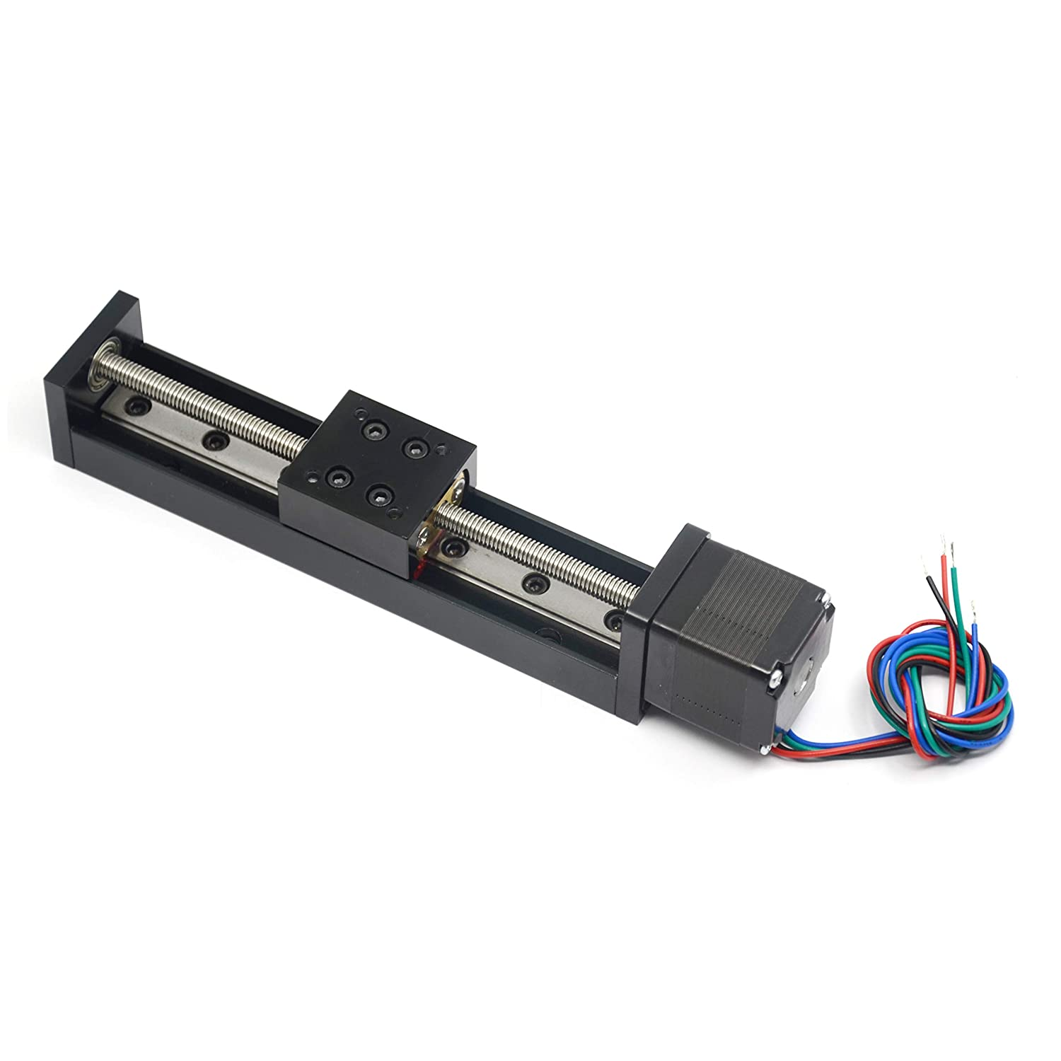 Befenybay 100mm Effective Travel Length Mini Linear Rail Guide Lead Screw T6x1 with NEMA11 Stepper Motor for DIY CNC Router Parts X Y Z Linear Stage Actuator
