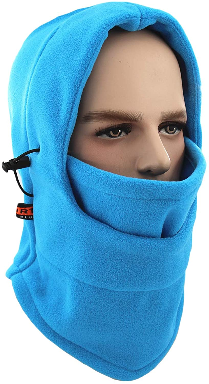 Balaclava Windproof Ski Face Mask Warm Fleece Ear-Flap Winter Hats Hoodie MK9
