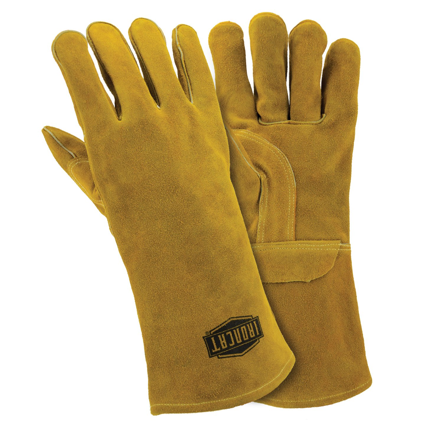 West Chester IRONCAT 9030 Select Split Cowhide Stick Welding Gloves - Large, [Pack of 12] Left Hand Work Gloves with Straight Thumb, Cotton Lining, Kevlar Thread