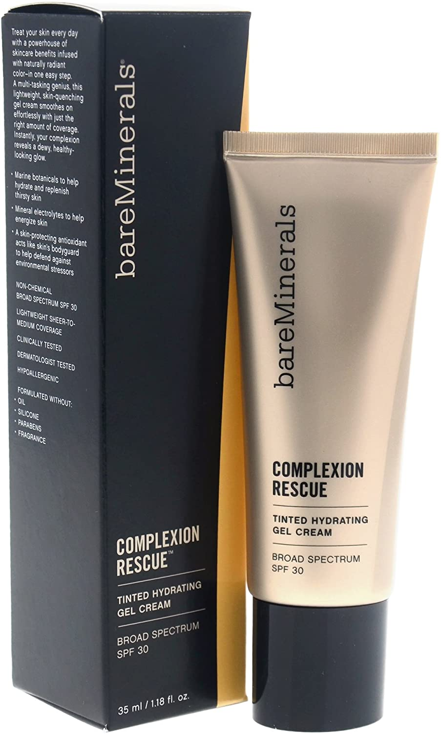 bareMinerals Complexion Rescue Tinted Hydrating Gel Cream SPF 30, Buttercream 03, 1.18 Ounce