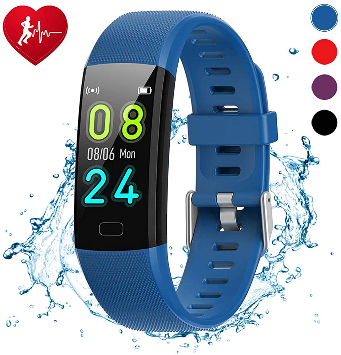 SaiYuan Smart Watch, Fitness Tracker with Heart Rate Monitor, Activity Tracker with 1.14