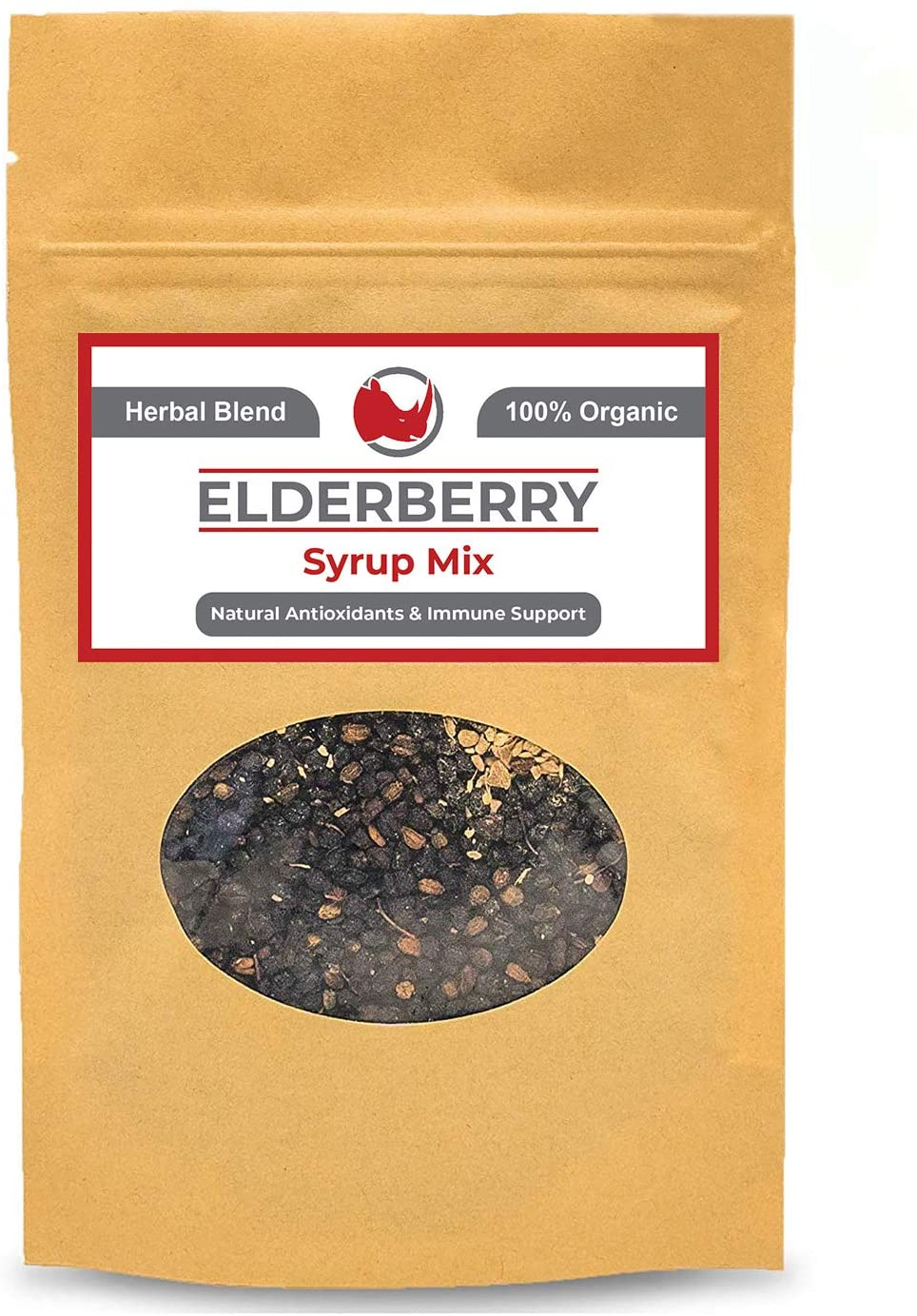 Organic Elderberry Syrup DIY Kit (Makes 18oz) Natural Immune Support with Antioxidants, Vitamins, Minerals - Great for Kids and Adults
