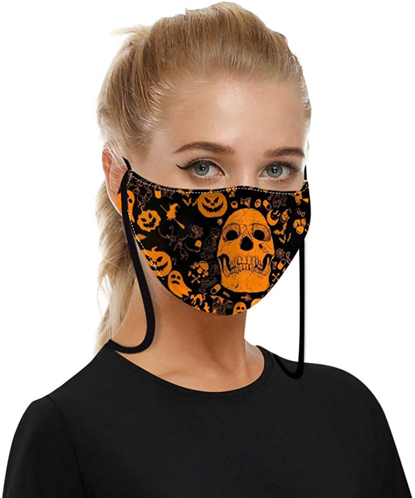 Adults Print Face Cover Washable Women Cloth Polyester Dust Reusable Mouth Bandana Neck Gaiter Men Quikly Arrive