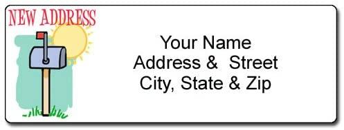 New Address Mailbox Label - Customized Return Address Label - 90 Labels