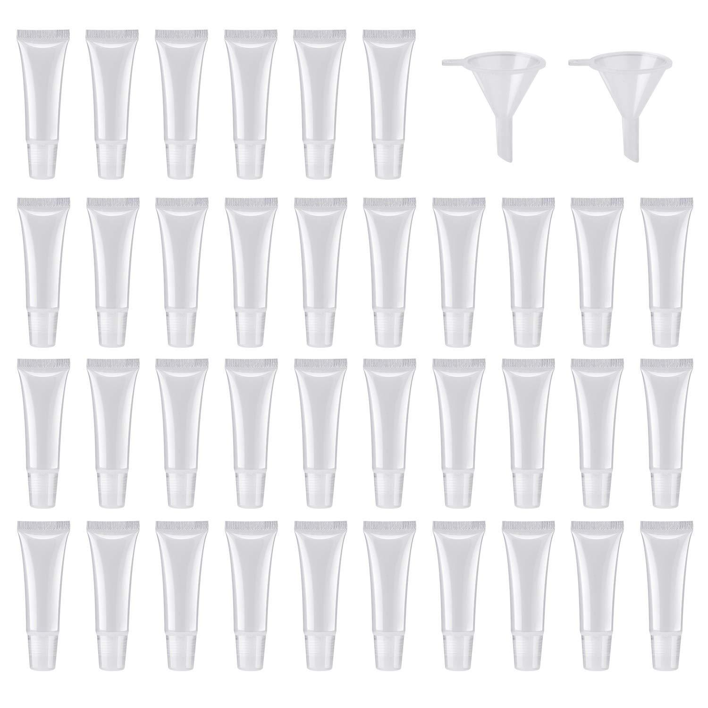 50Pcs 10ml Empty Lip Gloss Tubes Empty Lip Balm Tubes for DIY Lip Gloss Balm Cosmetic by HRLORKC