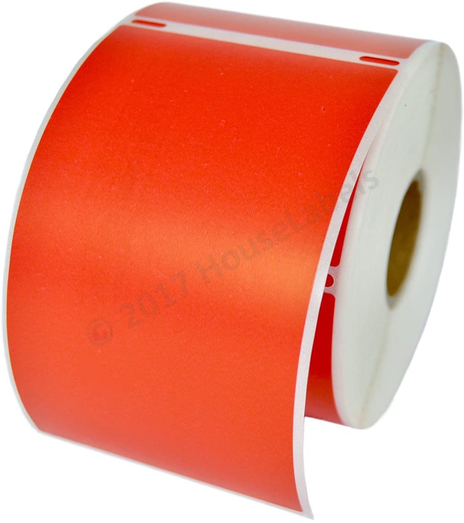 6 Rolls; 300 Labels per Roll of Compatible with DYMO 30256 RED Large Shipping Labels (2-5/16 x 4) - BPA Free!