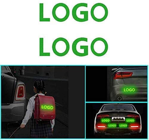 changlaiwang 2 PCS Can be Customized for Nissan SYLPHY Reflective Tape Outdoor Conspicuity Safety Warning Sticker Waterproof with Word SYLPHY Green 6X6CM