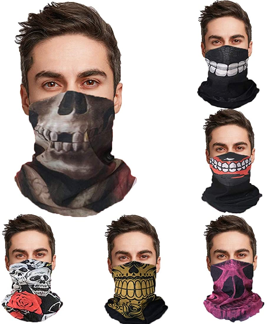 Bandana Face Mask for Rave Dust Wind, Face Scarf Neck Gaiter Tube Mask Headwear,Motorcycle Face Mask for Women Men
