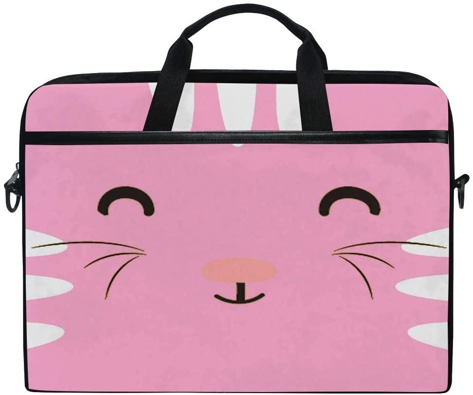 YVONAU Laptop Bag Lovely Animal Cat Travel Notebook Bag Shoulder Messenger Bag 14-14.5 Inch Computer Laptop Case Sleeve for Women Men Boys Girls