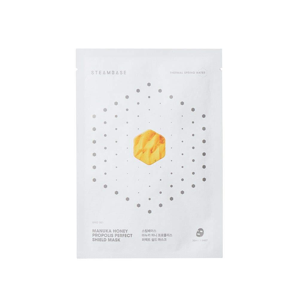 Steambase Korean Manuka Honey Propolis Perfect Shield Mask(10 Sheets)/Moisturizing/100% Natural Sheet/For Dry to Sensitive Skin