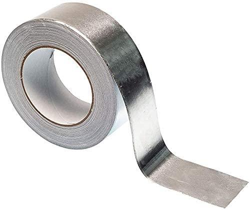 DSFHKUYB Aluminium Foil Adhesive Duct Tape -(4.8/6/8Cm X 0.08Mm) Heavy Duty Premium Metal Roll, Length20m/65.6Ft,10cm20m