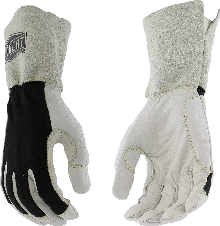 West Chester IRONCAT 9073 Premium Split Goatskin Leather TIG Welding Gloves: Large, 1 Pair