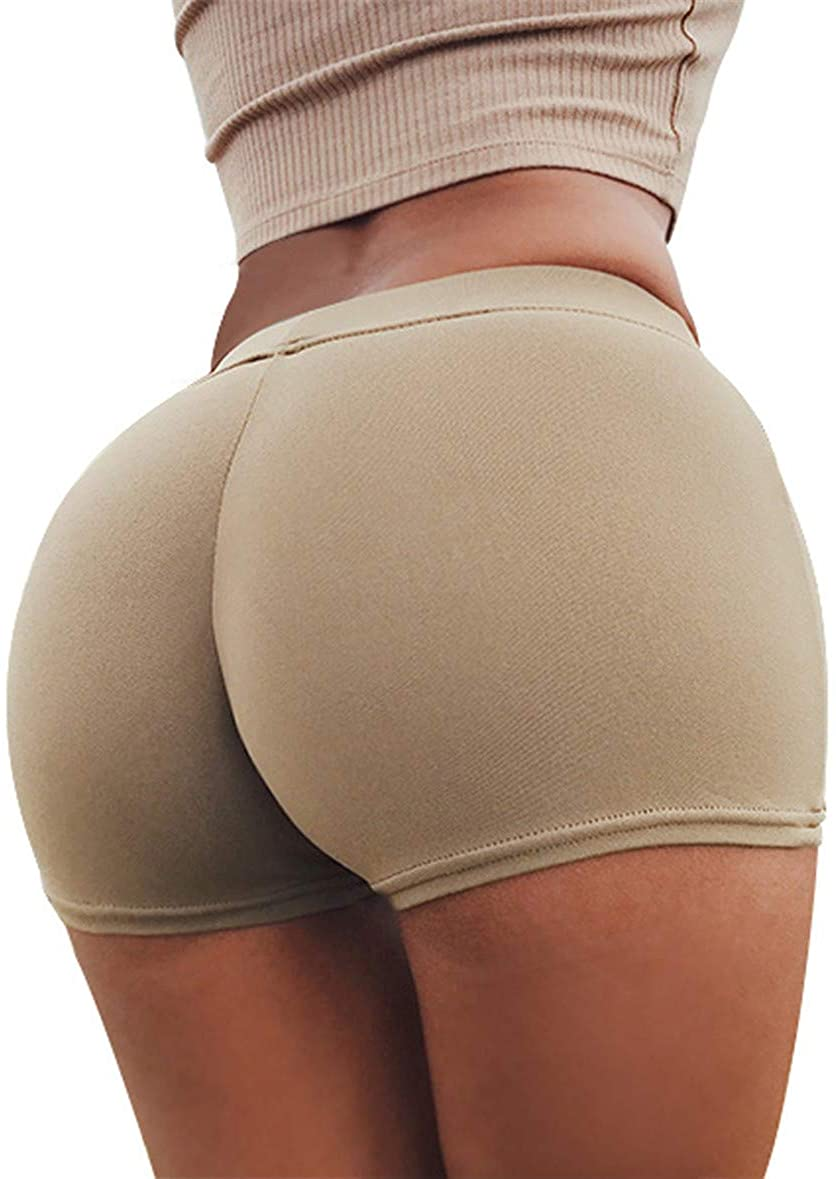 Hessimy Women's High Waisted Bottom Scrunch Butt Pants Ruched Yoga Shorts Push up Butt Lift Trousers