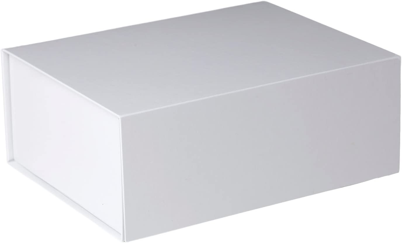 Jillson Roberts 4-Count Jumbo All-Occasion Magnetic Closure Gift Boxes, White Gloss