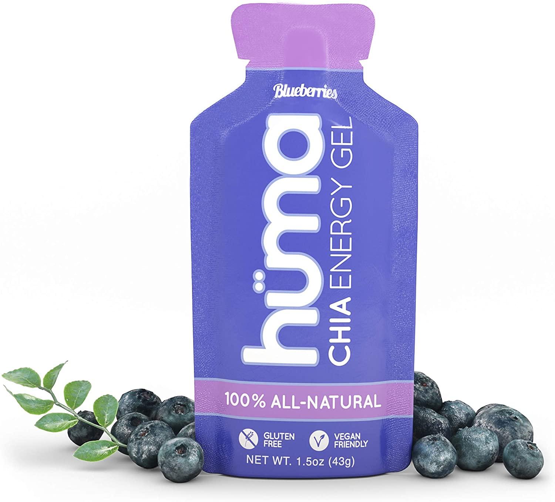 Huma Chia Energy Gel, Blueberries, 24 Count