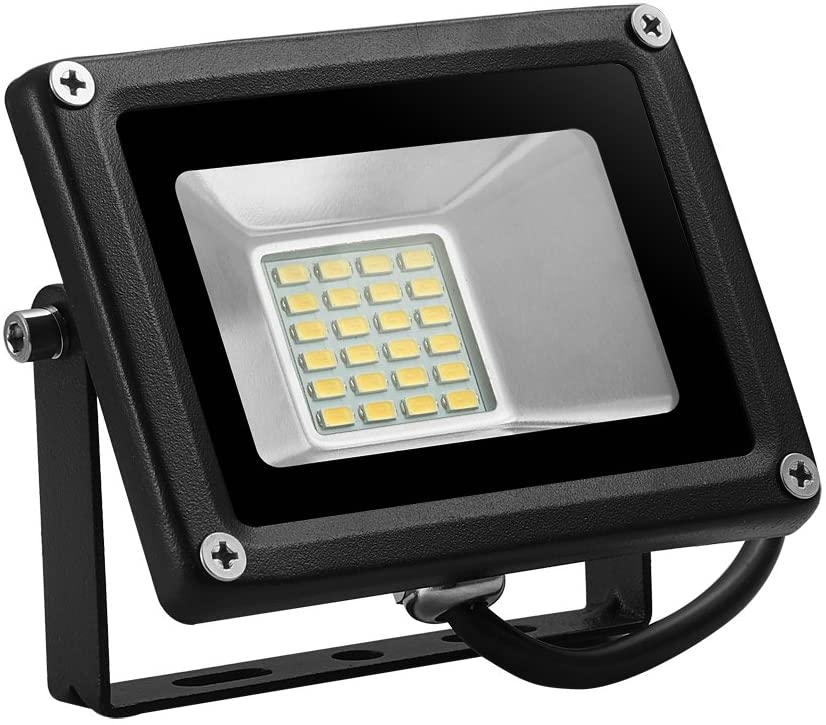 LEEL LED 20W Outdoor floodlight, 2835 lamp Beads, Warm White 2800K-3500K, 1400LM, Super Bright Energy Saving, IP65, Used in Garage, Garden, Gymnasium, Gymnasium and Factory