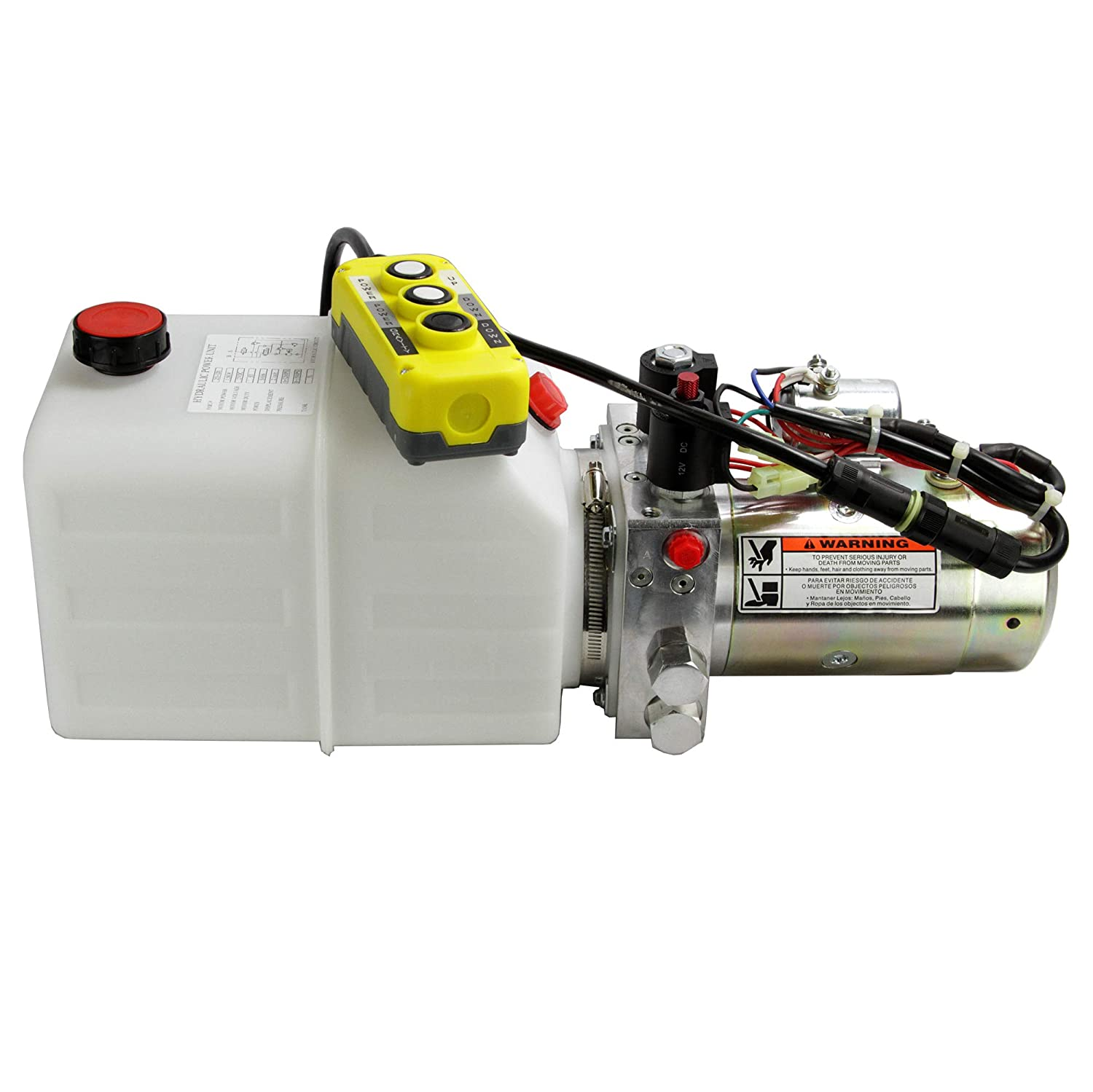 Hydraulic Power Unit 12V DC Double Acting, Solenoid Operated, 1.3 Gallon Poly Tank, 2850/1500 PSI, with 20 Foot Remote Control, 253309