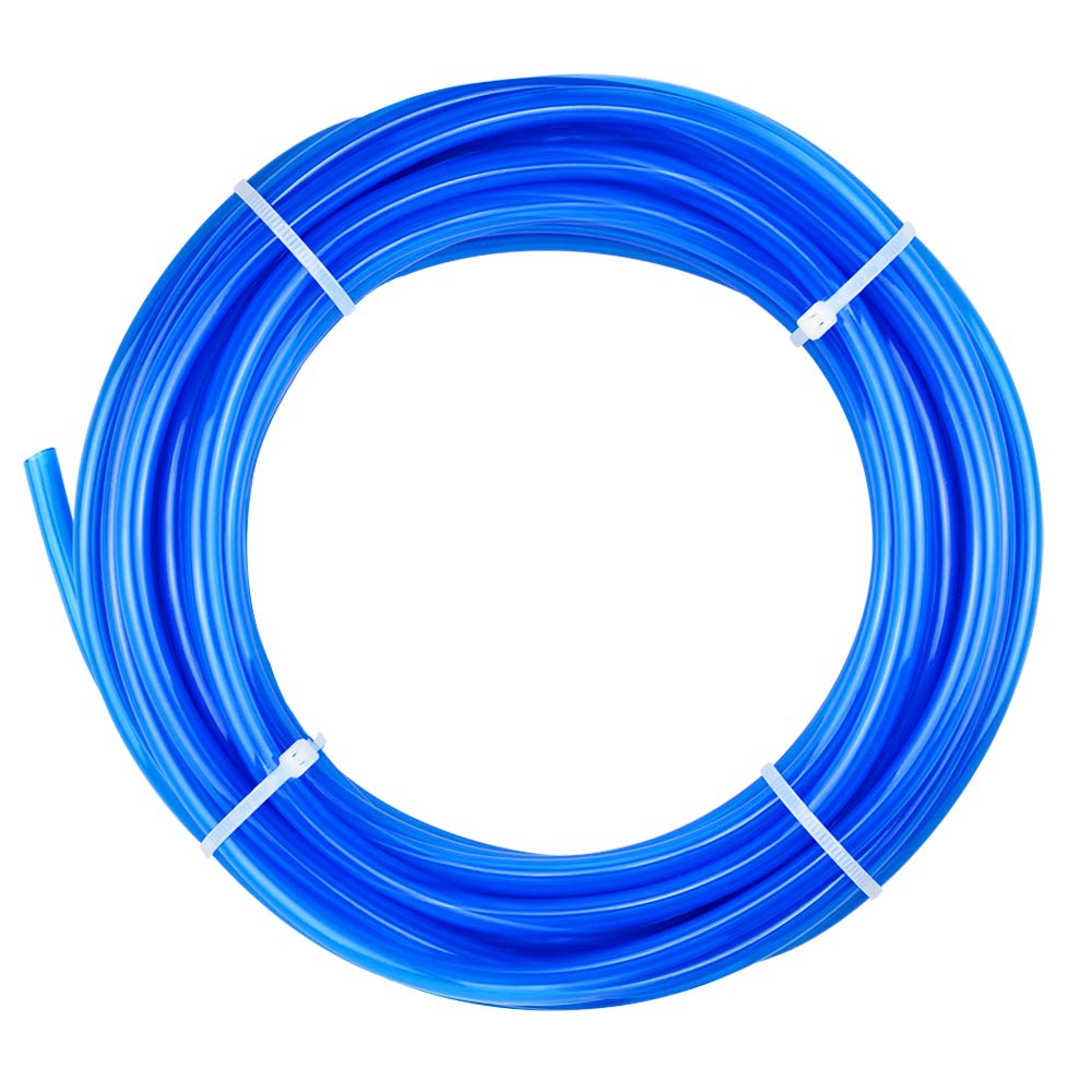 Tailonz Pneumatic Blue 1/4 Inch OD 10 Meters PU Air Tubing Pipe Hose Pu Air Hose for Air Line Tubing or Fluid Transfer Tubing