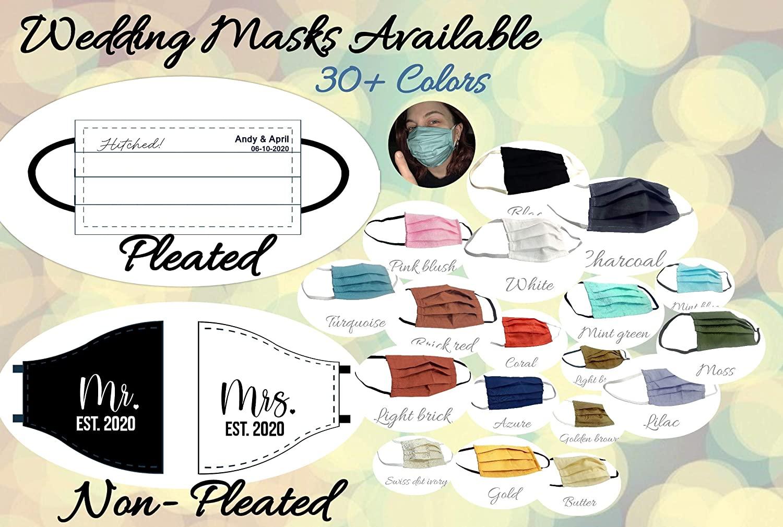 Bulk Face Mask, Wholesale Cotton Mask, Reusable Adult Face Mask, Pack 50 Wedding Guest Face Mask, Couple Face Mask (Sage)