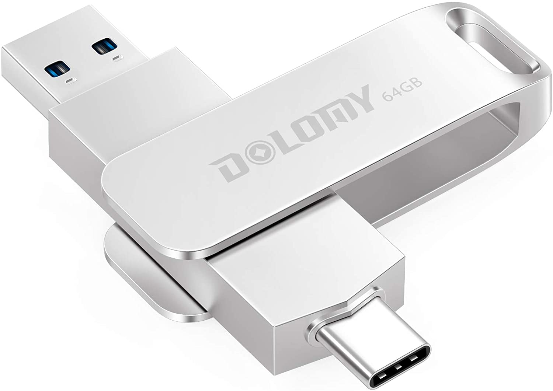 USB C Flash Drive, Dolomy 32GB USB 3.1 High Speed Type C Thumb Drive, 2 in 1 OTG Durable Metal Dual USB Memory Stick Flash Drive for MacBook Pro Air, Galaxy, Pixel, USB-C Devices