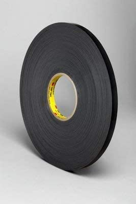 3M(TM) VHB(TM) Tape 4929 Black, 1/4 in x 72 yd 25.0 mil, 36 per case