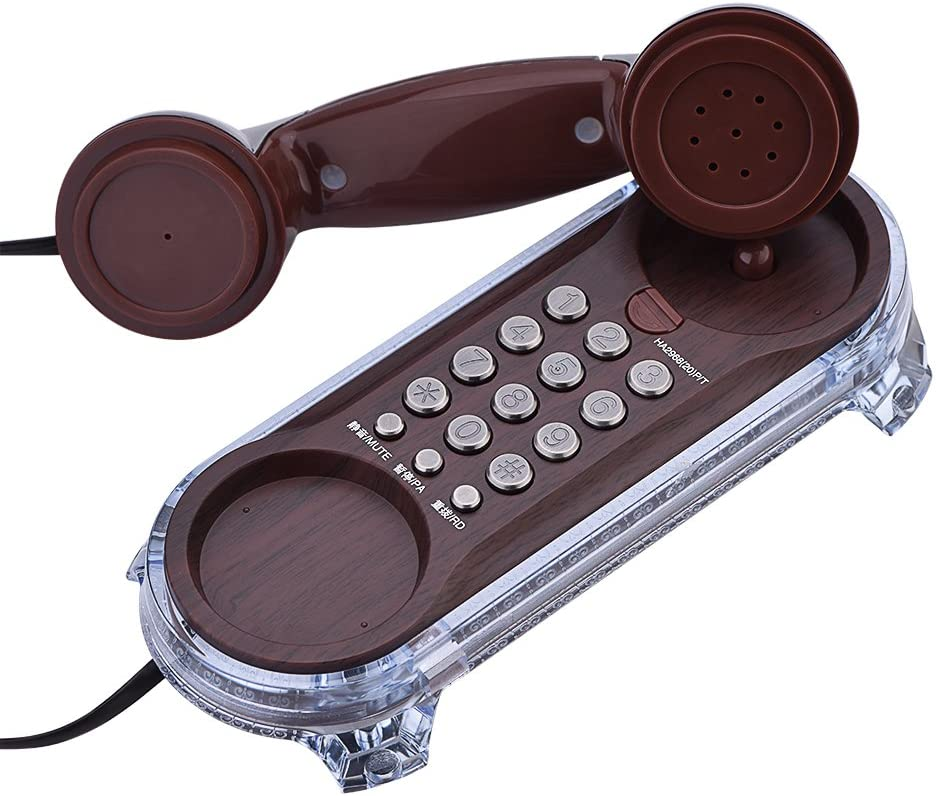 Diyeeni 1PC Flash Antique Telephones, Old Fashioned Hanging Phone, Caller Wall Mounted with Blue Backlight