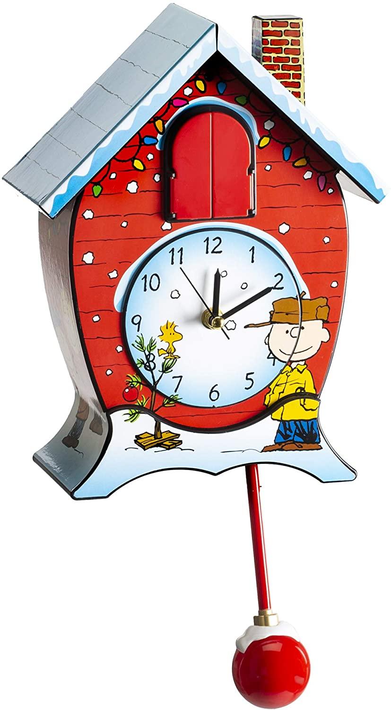 Mark Feldstein Peanuts Christmas Linus and Lucy Song Cuckoo Clock