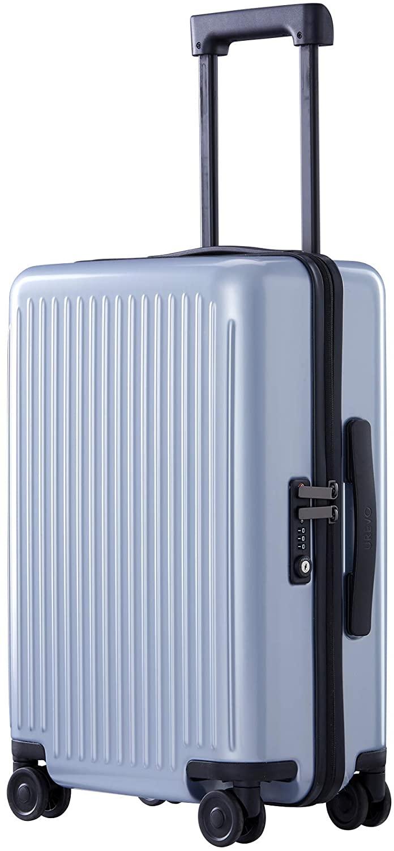 NINETYGO Carry on Luggage with Spinner Wheels, 22x14x9 Luggage, 100% PC Lightweight Hardside Suitcase with TSA Lock (20-inch Blue)