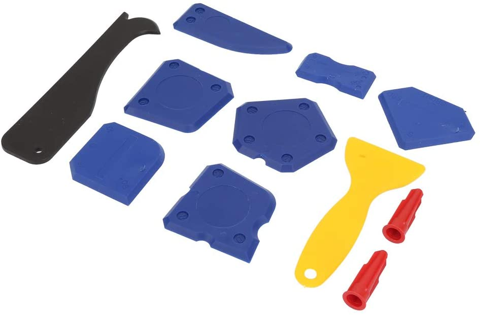 Leyeet 12 Pieces Silicone Remover Caulking Tool Kit Scraper Grout Caulking Sealant Finishing Cleaning Tool Kit