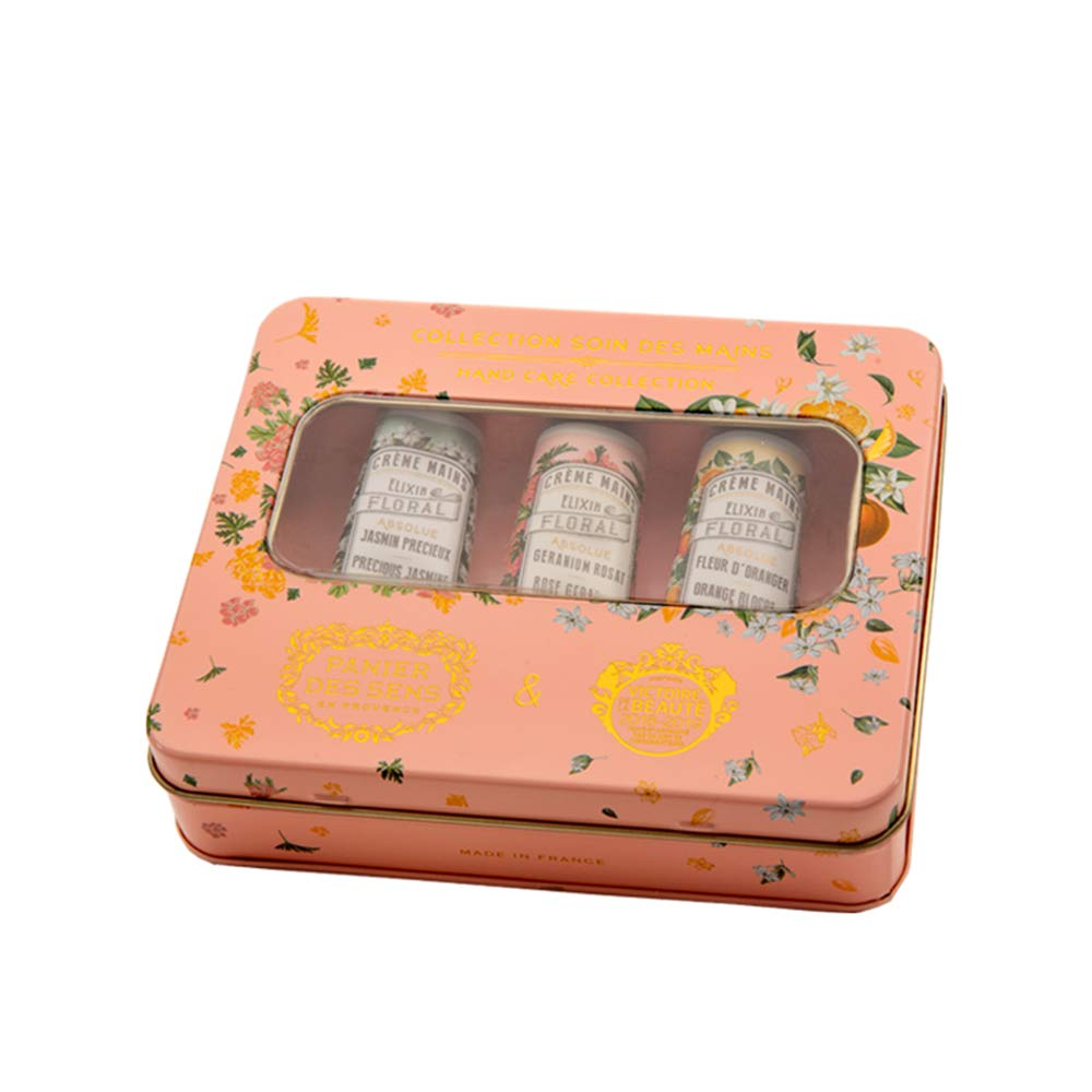 Panier des Sens Hand cream set of 3 mini Hand creams (Orange blossom, jasmine, Geranium)