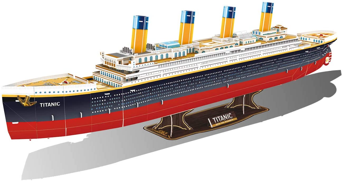 GuDoQi 3D Puzzles Cruise Ship, RMS Titanic Model Kit to Bulid, Family Puzzle Games, Difficult Puzzles Gifts for Adults Kids Men Women, 116 Pieces