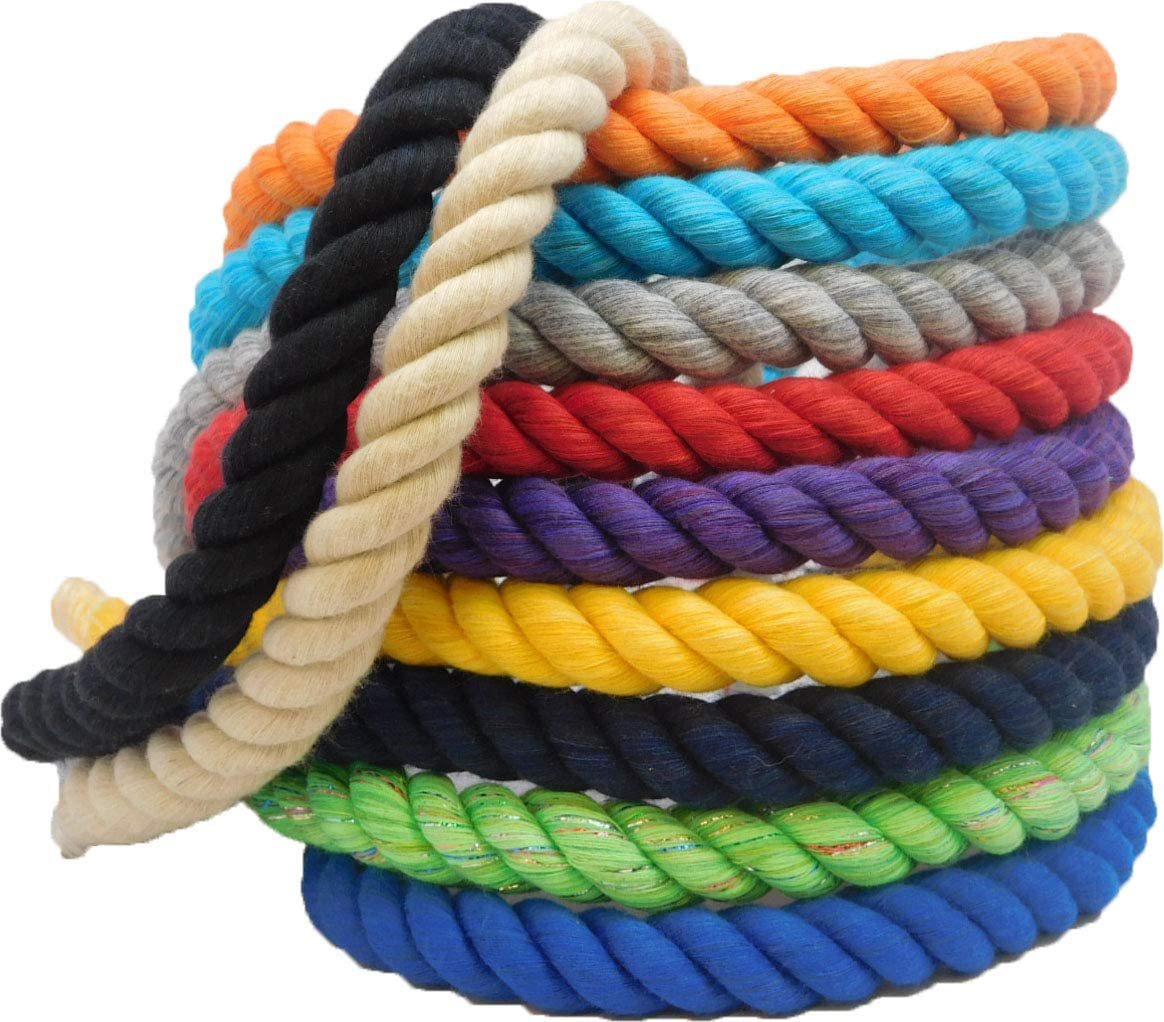 Ravenox Natural Twisted Cotton Rope | (Natural White)(1 Inch x 250 Feet) | Made in The USA | Strong Triple-Strand Rope for Sports, Décor, Pet Toys, Crafts, Macramé & Indoor Outdoor Use