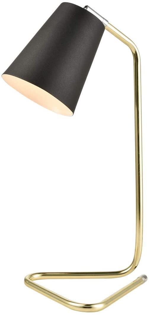 Dazhuan Modern Matte Black Desk Lamp Brass Stand Base Metal Table Lamp