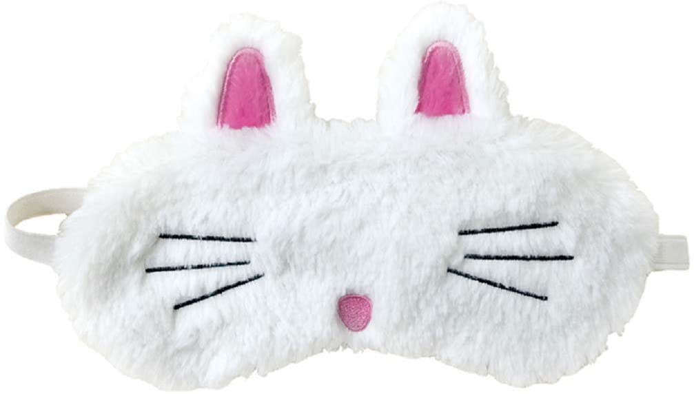 iscream Fun, Furry and Colorful Satin-Lined Embroidered Sleeping Bunny Sleep Mask for Girls