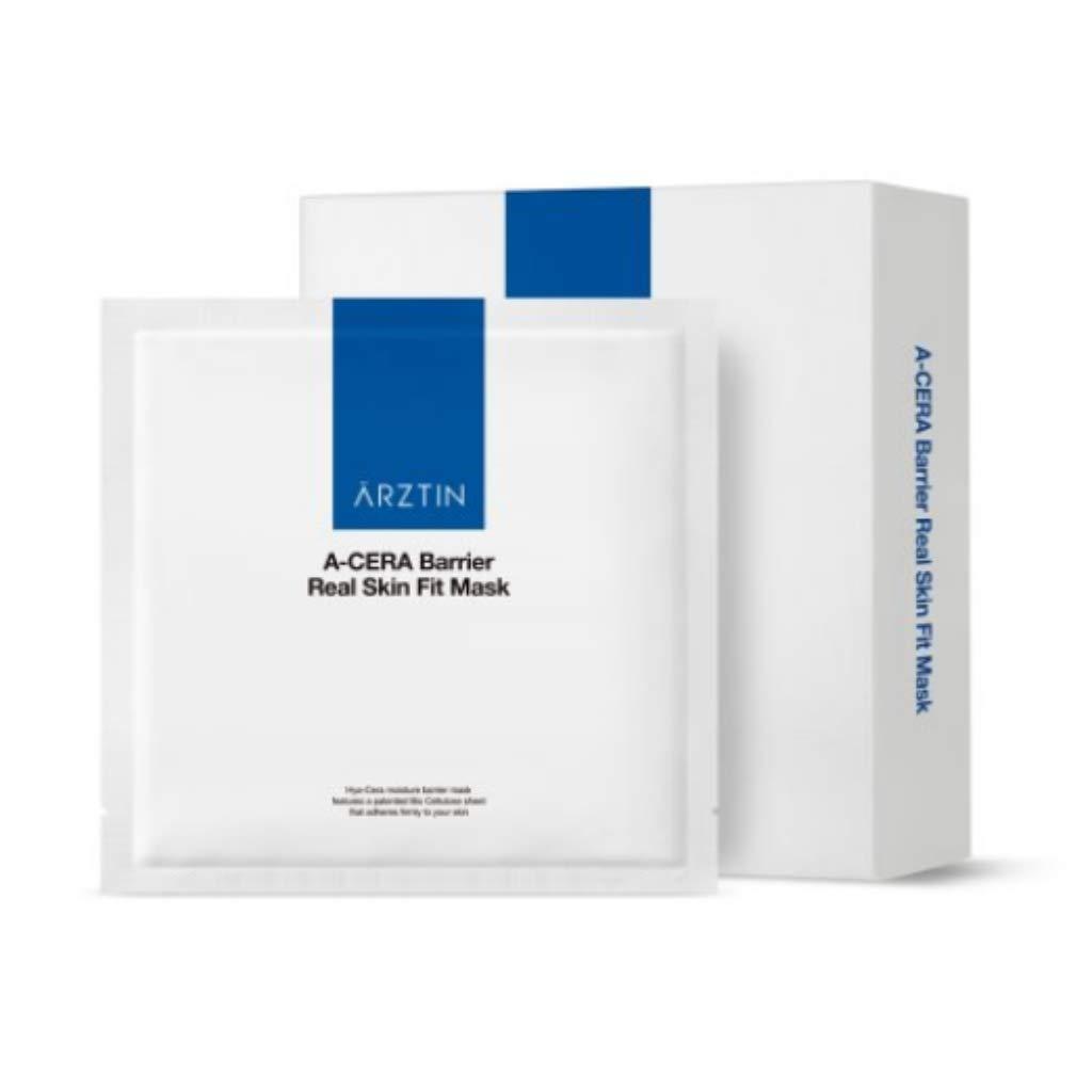 ARZTIN A-Cera Barrier Real Skin Fit Mask, Ultra-slim Bio Cellulose Sheet Hyaluronic Acids, Moisture, Firmness, vitality, 0.85 Fl. Oz x 5ea