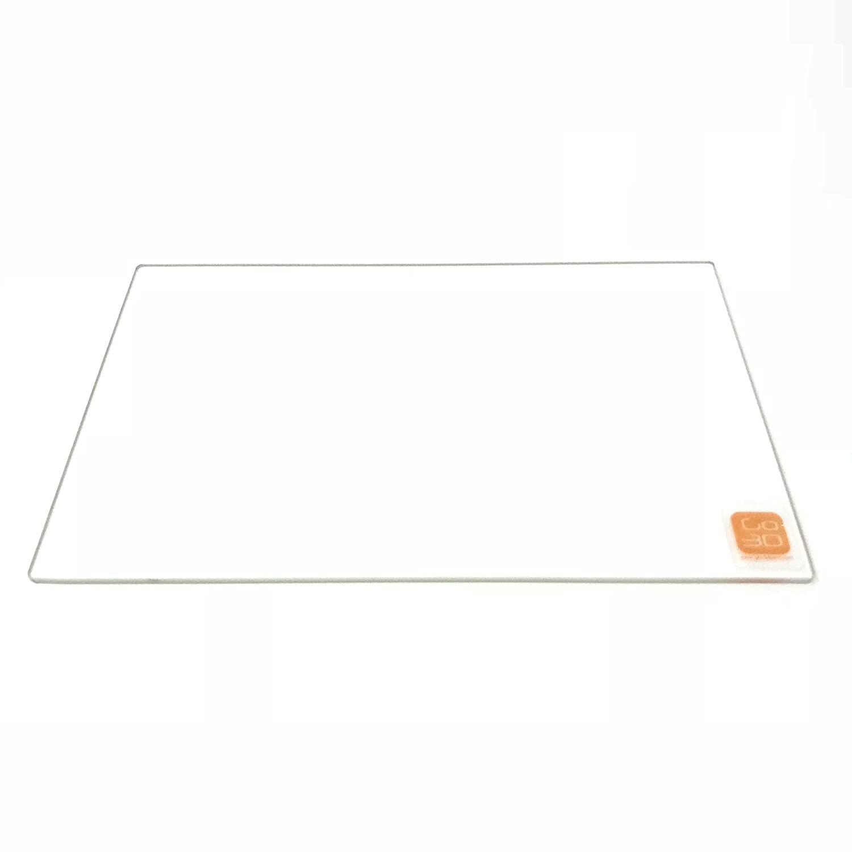 GO-3D PRINT 150mm x 230mm Borosilicate Glass Plate/Bed w/Flat Polished Edge for Flashforge Creator & Makerbot Replicator 3D Printer