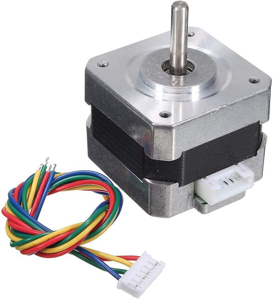 heaven2017 Nema 17 Stepper Motor 28N.cm High Torque 12V 0.4A 4 Wire Cable for 3D Printer CNC Reprap