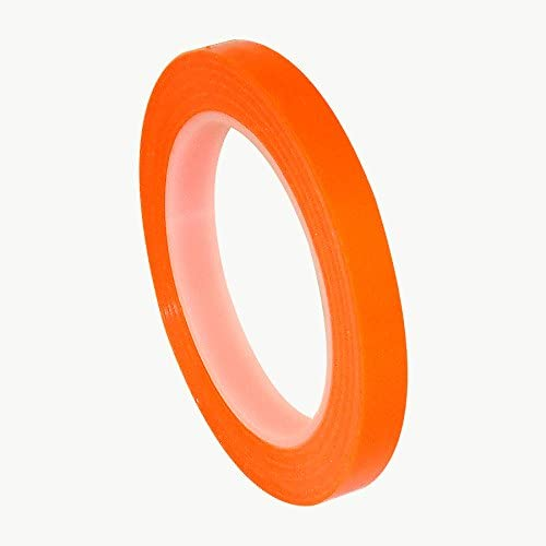 Patco 5560 Removable Protective Film Tape: 1/2 in. x 36 yds. (Transparent Orange)